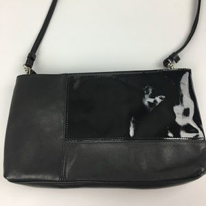 Handbags - Black Leather SHoulder Bag Purse Small Evening